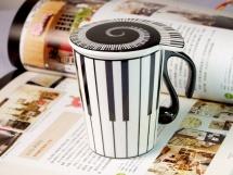 Mug Motif Piano Avec Couvercle