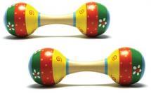 New Classic Toys Paire De Maracas Fleur