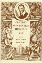 Partitions Chant - Monteverdi Beatus Vir (psalm 111) From The Selva Morale E Spirituale, Venice 1641