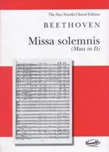 Beethoven L. Van - Missa Solemnis (mass In D) - Vocal Score