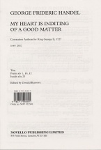 Handel - My Heart Is Inditing Of A Good Matter - Satb