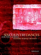 Bennett Richard Rodney - Six Country Dances For Viola And Piano - Viola