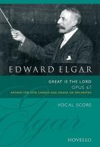 Wood Bruce - Elgar Great Is The Lord - Op 67 - Satb