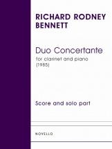 Bennett Richard Rodney - Duo Concertante - Clarinet