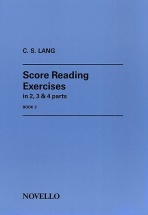 Lang C S - Score Reading Exercises In 2, 3 And 4 Parts Book 2 - Violin Book 2 - Organ
