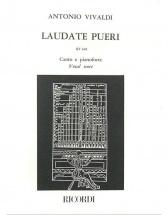 Vivaldi A. - Laudate Pueri Dominum. Salmo 112 Rv 601 - Chant Et Piano