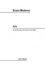 Maderna B. - Solo Per Musette - Hautbois