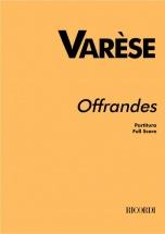 Varese E. - Offrandes