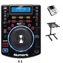 Numark M101usb + 2x Ndx500 + Stand Djs30