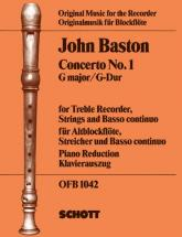 Baston John - Concerto No 1 In G Major - Treble Recorder, Strings And Basso Continuo