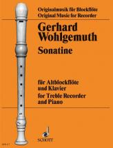 Wohlgemuth Gerhard - Sonatina - Treble Recorder And Piano
