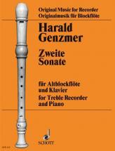 Genzmer Harald - 2 Sonata - Treble Recorder And Piano