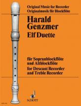 Genzmer Harald - 11 Duets - Soprano And Treble Recorder