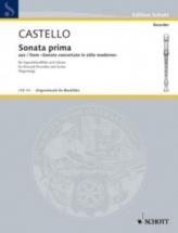 Castello Dario - Sonata Prima A Soprano Solo - Flute A Bec Soprano