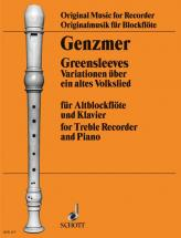 Genzmer Harald - Greensleeves - Treble Recorder And Piano