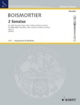 Boismortier J.b. De - Two Sonatas - Treble Recorder (oboe, Violin, Flute) And Basso Continuo