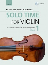 Blackwell Kathy & David - Solo Time For Violin Book 1 + Cd - Violon