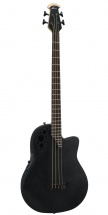 Ovation Elite T Mid Cutaway 4-string Black Textured