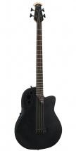 Ovation Elite T Mid Cutaway 4-string Black Textured
