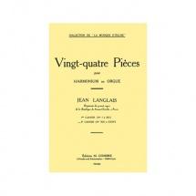 Langlais Jean - Pieces (24) Cahier N.2 (13 A 24) - Orgue Ou Harmonium
