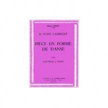 Fuste-lambezat Michel - Piece En Forme De Danse - Hautbois Et Piano