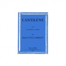 Fuste-lambezat Michel - Cantilene - Hautbois Et Piano