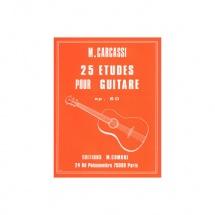 Carcassi Matteo - Etudes (25) Op.60 - Guitare