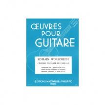 Carulli Ferdinando - Celebre Andante - 2 Guitares Ou Flute Et Guitare