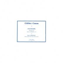 Pachelbel Johann - Celebre Canon - Trompette En Ut Et Orgue