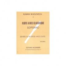 Worschech Romain - La Flute A Bec Classique Vol.1 - Flute A Bec Soprano Solo