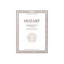 Mozart Wolfgang Amadeus - Sonate N.4 En Mi Min. - Violon Et Piano
