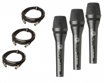 Akg Pack 3 X P3s + Cables