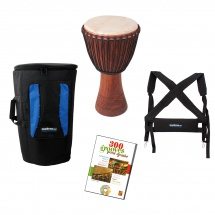 Waka Drums Pack Djembe Grand + Housse + Harnais + Methode