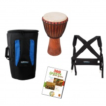 Waka Drums Pack Djembe Medium + Housse + Harnais + Methode