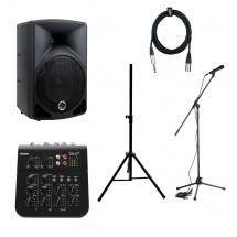 Eagletone Enceinte Sonorisation Active + Stand + Table Mixage + Micro