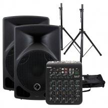 Eagletone Pack Enceintes Eps10 V2 + Stands + Table De Mixtage