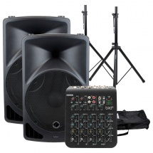 Eagletone Pack Enceinte Eps15 V2 + Stands + Table De Mixage