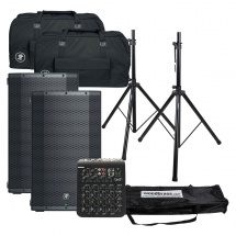 Mackie Pack Enceinte Thump12bst + Pieds + Table Mixage + Bag