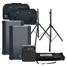 Mackie Pack Enceinte Thump15a + Pieds + Table Mixage + Bag