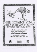 Hely-hutchinson Three Nonsense Songs - Voice