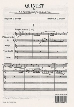 Arnold Malcolm - Quintet For 2 Trumpets, Horn, Trombone And Tuba - Study Score