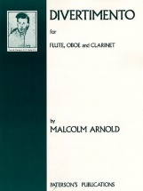 Arnold Malcolm - Divertiemento For Flute, Oboe And Clarinet Set Of Parts - Clarinet