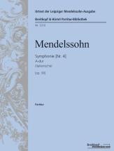 Mendelssohn F. - Sinfonie Nr.4 A-dur Op.90 Mwv N 16 Italienische - Score