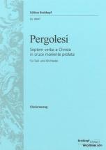 Pergolese G.b. - Septem Verba A Christo In Cruce Moriente Prolata - Vocal Score