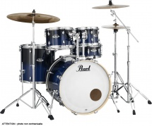 Pearl Drums Exl725pc-257 - Export Lacquer 5f Standard 22 Sea Blue Fade