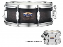 Pearl Dmp1455sc-229 - Caisse Claire Decade Maple 14x5,5 White Satin Pearl