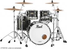 Pearl Mct924xefpc-339 - Master Maple Complete 4f Fusion 22 Matte Caviar Black
