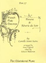 Saint-saëns - Pavane 1 Reverie Du Soir -  Flute Et Piano
