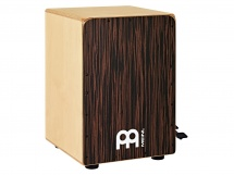 Meinl Jbc6ey - Ebony Bass Cajon With Snare Pedal Ebony Frontplate