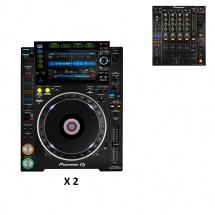 Pioneer Dj Pack Djm850 Noire + 2x Cdj-2000nxs2